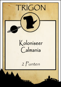 Opdracht Koloniseer Calmania