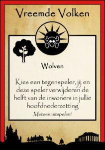 Uitspeelkaart Wolven